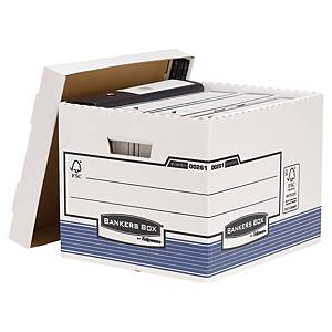 Archive Box Bankers Box System, W333xD285xH390 mm, blue/white, pack of 10 pcs