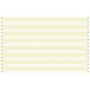 Papier listing A4 oblong 3/6   simple, 70 gm2, olive, emb. de 2000 flles.