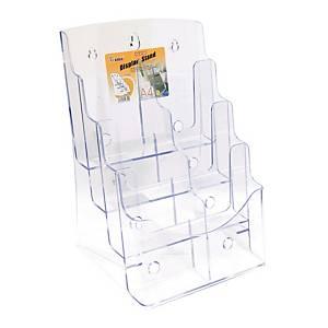 GODEX 4 Compartment Literature Holder A4