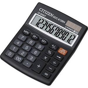 Calculatrice de bureau Citizen SDC-812BN, 12 chiffres