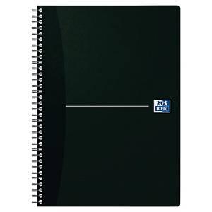 Notesbog Oxford Office Essentials, A4, ternet 5 x 5 mm, 90 ark, sort