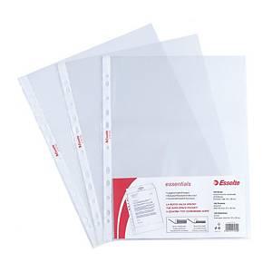Buste a perforazione universale Esselte Essentials 22x30cm antiriflesso-conf.100