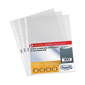 Buste a perforazione universale Favorit Superior 22x30cm antiriflesso - conf. 50
