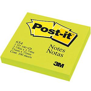 POST-IT 654 NEON NOTES 3   X 3   - NEON LIME