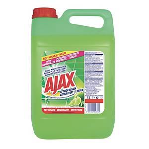 Nettoyant universel Ajax parfum citron, le bidon de 5 l