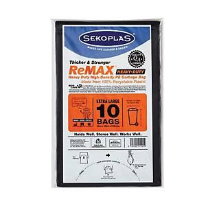 Sekoplas Waste Bag 89 x 109CM Black - Pack of 10
