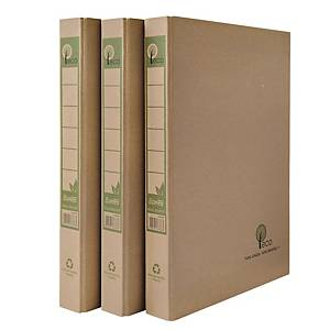 Bantex Eco Paper Natural F4 2D Ring Binder With Stopper 25mm