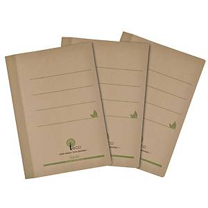 Bantex Eco Paper F4 File - Pack of 10 Natural