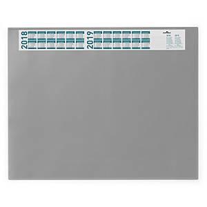 Schreibunterlage Durable 7204, 65 x 52cm, mit Vollsichtfolie, grau