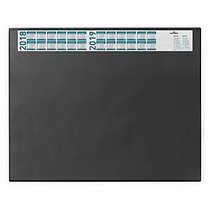 Schreibunterlage Durable 7204, 65 x 52cm, mit Vollsichtfolie, schwarz