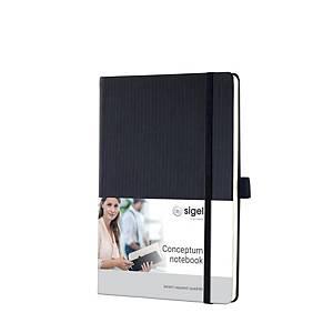 Notizbuch Sigel Conceptum CO121, A5, kariert, Hardcover, 194 Seiten, schwarz