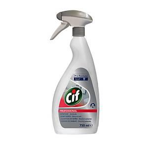 Limpiador desincrustante para baños 2 en 1 Cif Profesional en spray - 750 ml