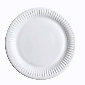 Huhtamäki kartonkilautanen 15cm valkoinen, 1 kpl=100 lautasta