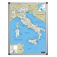 Cartina Dell Italia Stradale.Cartina Italia Magnetica Con Fondo Scrivibile E Mappa Stradale 90 X 120 Cm