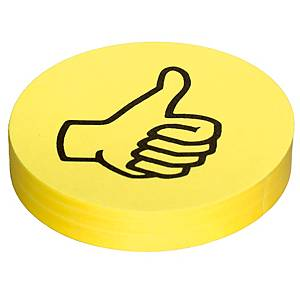 Wertungssymbole OTC M313, Daumen, gelb, 100 Stück