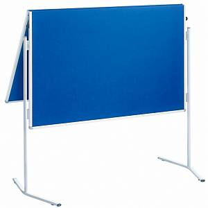 Moderationswand Franken ECO-UMTFG03R, Maße: 150 x 120cm, Filz, mit Rollen, blau