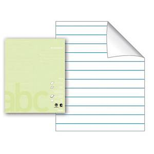 Arbeidsbok Bantex, 17 x 21 cm, 24 ark, 80 g, 11 linjert, limegrønn, 15 stk.