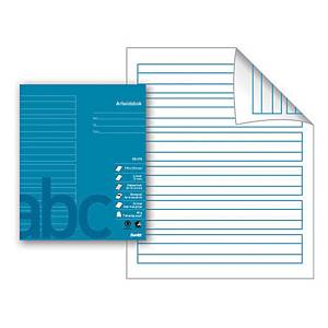 Arbeidsbok Bantex, 17 x 21 cm, 24 ark, 80 g, linjert, petroleum, 15 stk.