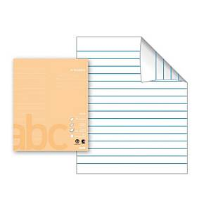 Arbeidsbok Bantex, 17 x 21 cm, 24 ark, 80 g, 16 linjer, lys aprikos, 15 stk.