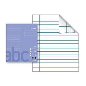 Skolehefte Bantex, 17 x 21 cm, 18 linjer, lys lilla, 15 stk.