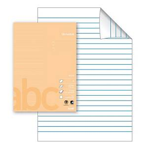 Skolehefte Bantex, A4, 23 linjer, lys aprikos, 25 stk.
