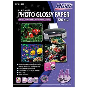Hi-Jet Platinum Glossy Photo Paper A4 120G Pack of 200
