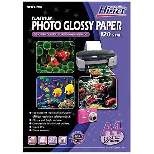 HI-JET กระดาษโฟโต้อิงค์เจ็ทแบบเนื้อมัน A4 120 แกรม 1 แพ็ค 200 แผ่น