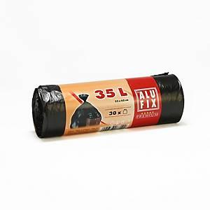 Pytle Alufix na odpad HDPE polyetylén 35 l černé
