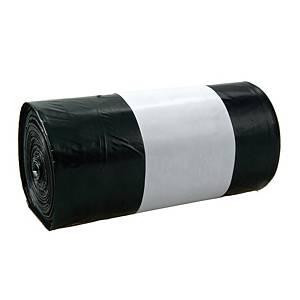 Müllbeutel ohne Zugband, Füllmenge 60 l, 15 Mikron, schwarz, 20 Stück