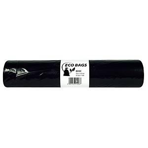 Vrecia Alufix na odpad HDPE polyetylén, 120 l čierne
