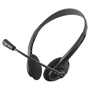 Auscultadores para PC Trust Primo - com cabo jack - com microfone