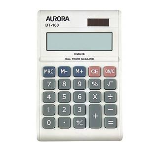 AURORA 8 DIGITS PORTABLE WHITE CALCULATOR