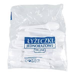 Łyżeczka plastikowa mała 12,5 cm, 100 sztuk