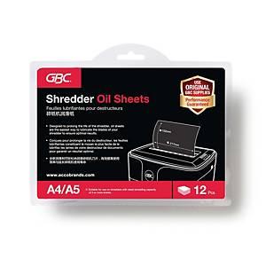 ACCO Shredder Oil Sheet - Pack of 12