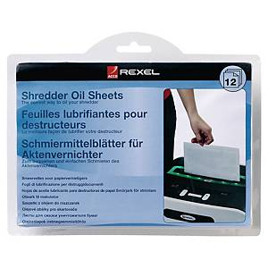 Rexel Shredder Oil Sheets Pack of 12 A5 Size Shredder Maintenance 2101948