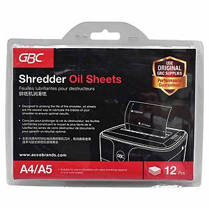 ACCO Shredder Oil Sheet - Pack of 12
