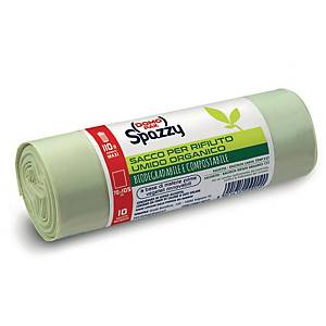 Sacchi raccolta umido Mater-bi Spazzy Domopak 110 L trasparente - conf. 10