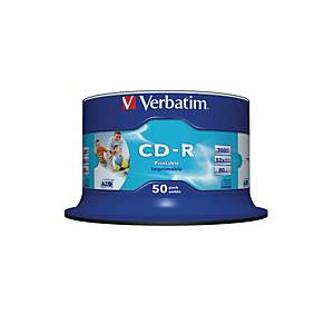 VERBATIM CD-R Spindle 80MIN/700MB 43438 52x fullprint o.L 50 Pcs