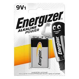 Baterie Energizer Alkaline Power, LR61/9V, alkalická, 1 kus v balení