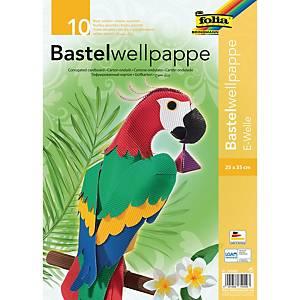 Carton ondulé 25 x 35 cm couleurs assorties - le paquet de 10