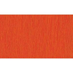 Papier crepon 50 cm x 2,5 m orange - le paquet de 10