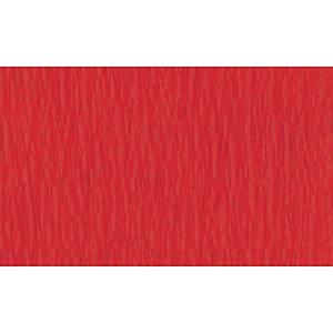 Papier crepon 50 cm x 2,5 m rouge - le paquet de 10