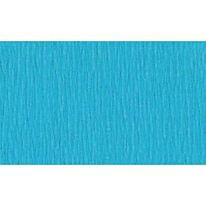 Papier crepon 50 cm x 2,5 m bleu clair - le paquet de 10