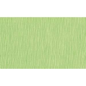 Papier crepon 50 cm x 2,5 m vert clair - le paquet de 10