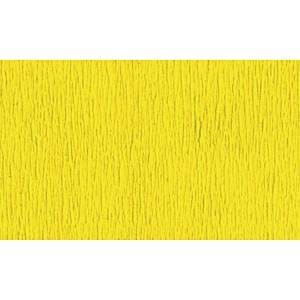 Papier crepon 50 cm x 2,5 m jaune - le paquet de 10