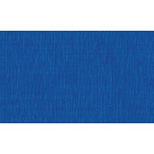 Papier crepon 50 cm x 2,5 m bleu foncé - le paquet de 10