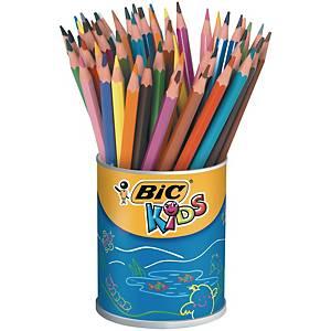 Bic® Kids Evolution kleurpotloden, assorti kleuren, pot van 60 potloden