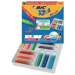 Bic® Kids Kid Couleur kleurstiften, assorti kleuren, klaspak van 144 stiften