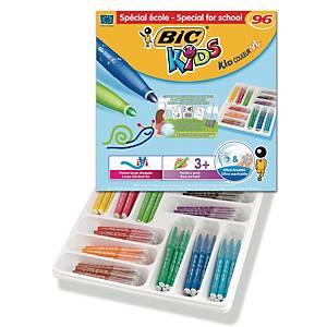 Bic Kids Kid Couleur XL feutres couleur assorti - le paquet de classe de 96