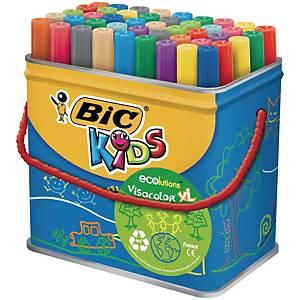 Bic Kids Ecolutions Visacolor XL feutres couleur assorti - le pot de 48